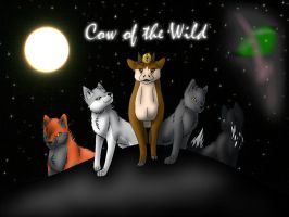 Cow of the Wild -Poster- by fluffylovey
