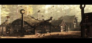 Autumn in the village by barrymdesigns
