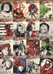 Marvel Sketch Cards by Red-J