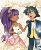 Ash and Iris's wedding by dollieloveheart