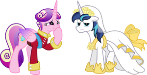 Cadence and Princess Shining Armor by MacTavish1996
