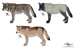 Wolf Adoptables (and lineart) for sale - CLOSED by makangeni