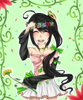 .:Request:. for puni-kun14 'A Crown of Flowers' by Kuroibarrahime
