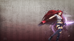 LoL - Red Card Katarina Wallpaper by xRazerxD