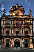 City Hall of Pamplona by KnortKnarsonn