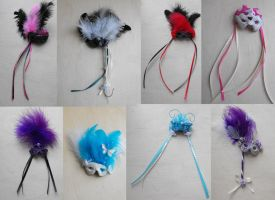 masquerade mask magnets by ButterflyInDisguise