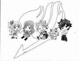Fairy Tail Chibi by nicsais
