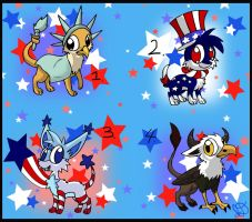 Free Patriotic Adoptables ~Closed~ by Electric-Mongoose