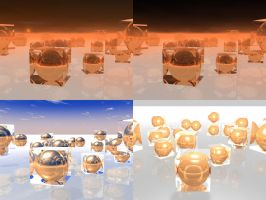 Glass Cubes of Spheres by ArtmasterRich