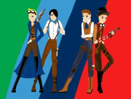 The Crew, Steampunk Style by SweetSilentSteps