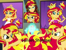 Sunset Shimmer Human And Pony wallpaper by Sunset-Dasher