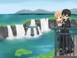 Kirito and Asuna by SpecialPikachu