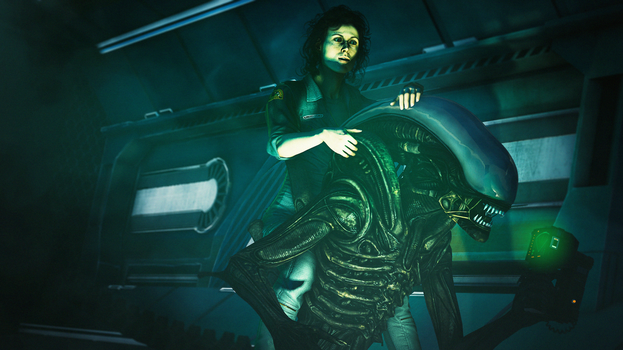 SHE'S RIGHT ON TOP OF ME!!! (Alien) by Boznean