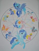 [Not mine] Circle of Pony Elements by Silverweed91