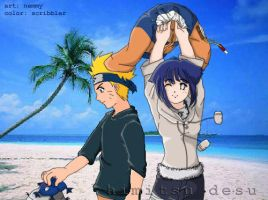 :: NaruHina - Summer Breeze :: by Nutty-Scribbler