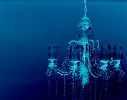 Frosted Chandelier by Sandybelle