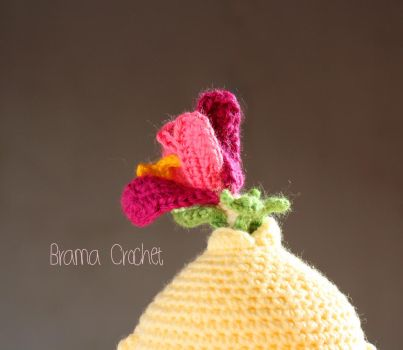 FLOWER Kawaii Amigurumi crochet doll by BramaCrochet