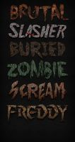 Horror Text Styles for Photoshop by xstortionist