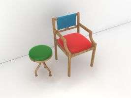 stool and chair by eRe4s3r