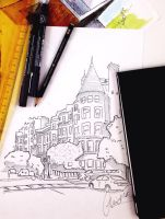 Architecture sketches by SweetSophie
