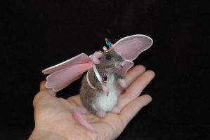 Felted Fairy Princess Rat by amber-rose-creations