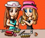 leaf and serena cooks by babyblisblink