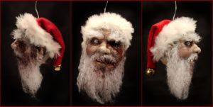 zombie claus ornament by kezeff