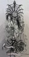 Dead girls tattoo design 2 by Peter-Ortiz