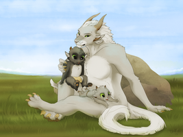 Iris and her wittle bebes by TigresToku