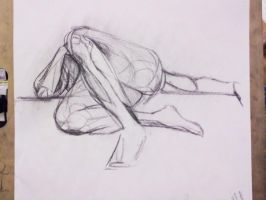 Life Drawing - shape study by dichotomies