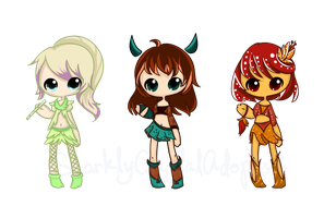 {Open} Chibi Adoptables No. 1 by SparklyCrystalAdopts