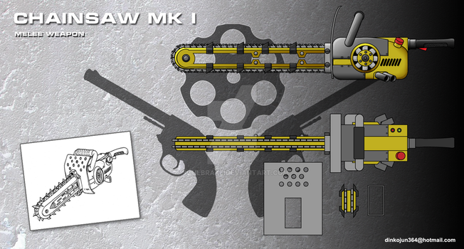 Chainsaw melee weapon concept by SoulBrake