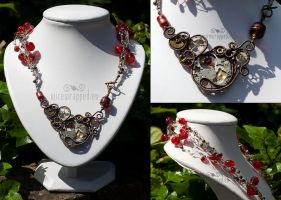 Steampunk necklace by ukapala