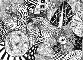 zentangle doodle by flybye669