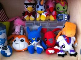 My Digimon Beanie Collection - January 2012 by superhero83