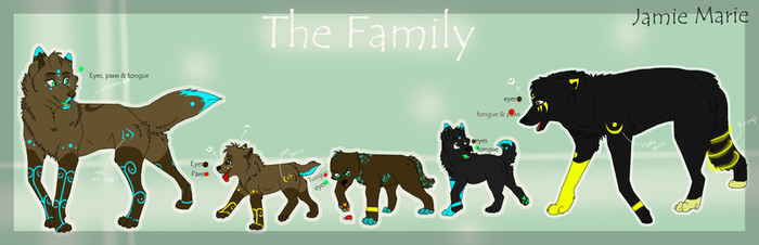 Family ref sheets by WolfArtista