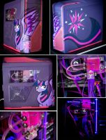 Twilight Sparkle Custom Liquid-Cooled Gaming PC by Tao-mell