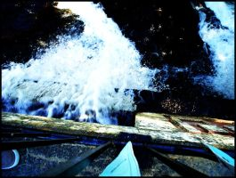 Water flowing from a dam by paroxysmic