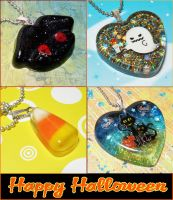 Happy Halloween Resin Jewelry by bapity88
