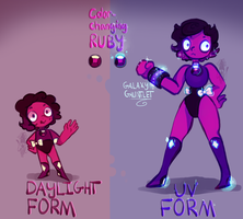 Color changing Ruby || Gemsona ref by KryingKraken