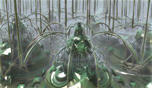 green spiders by Andrea1981G