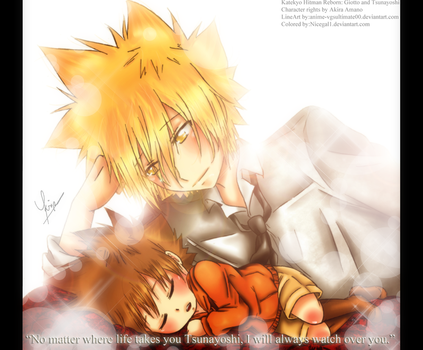 Giotto And Tsuna: I'll always Watch over you... by nicegal1