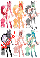 Furry Adoptables 2 by NikosBitch