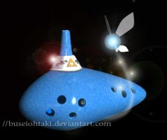 3D Shade : Ocarina and navi by buseiohtaki