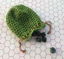 Green dice bag by silverfaction