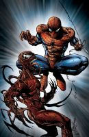 Spidey and Carnage Coloured by NineteenPSG