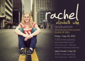 Rachel Graduation Invitation by ipholio