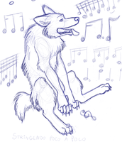 Music puppy - sketchy stuff by ruggafluff