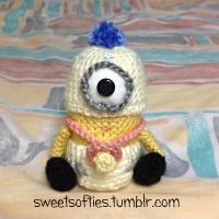 Crocheted Baby Minion Doll Plush (Despicable Me) by Sylemn