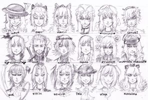 Touhou: Face sketch by Tres-Iques